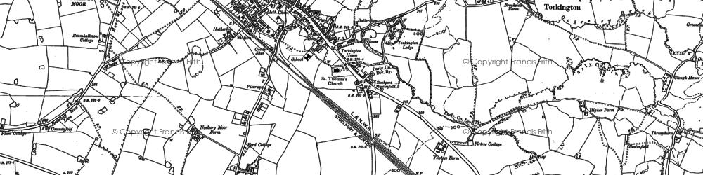 Old map of Woods Moor in 1897