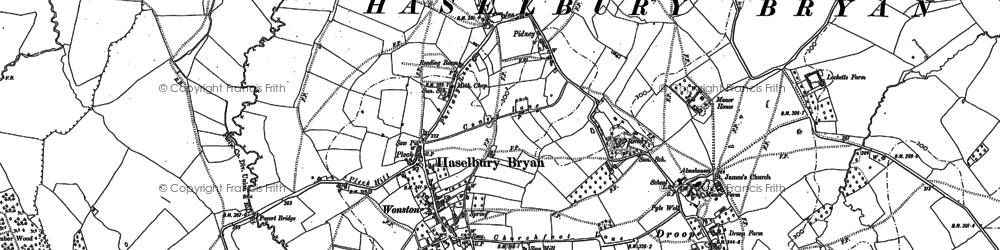 Old map of Wonston in 1886