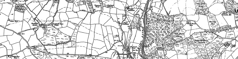 Old map of Wigford in 1885