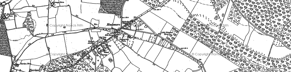Old map of Hazlemere in 1897