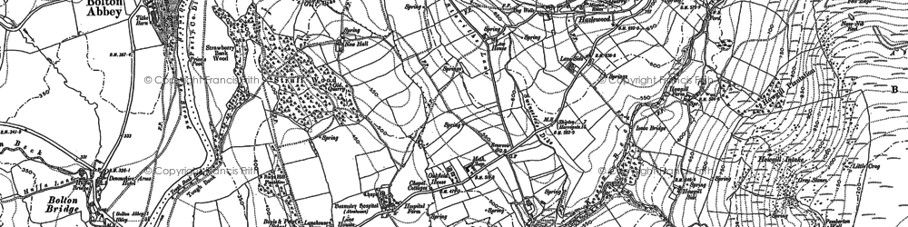 Old map of Whinhaugh in 1906