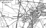 Old Map of Headbourne Worthy, 1895