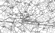 Old Map of Headcorn, 1896