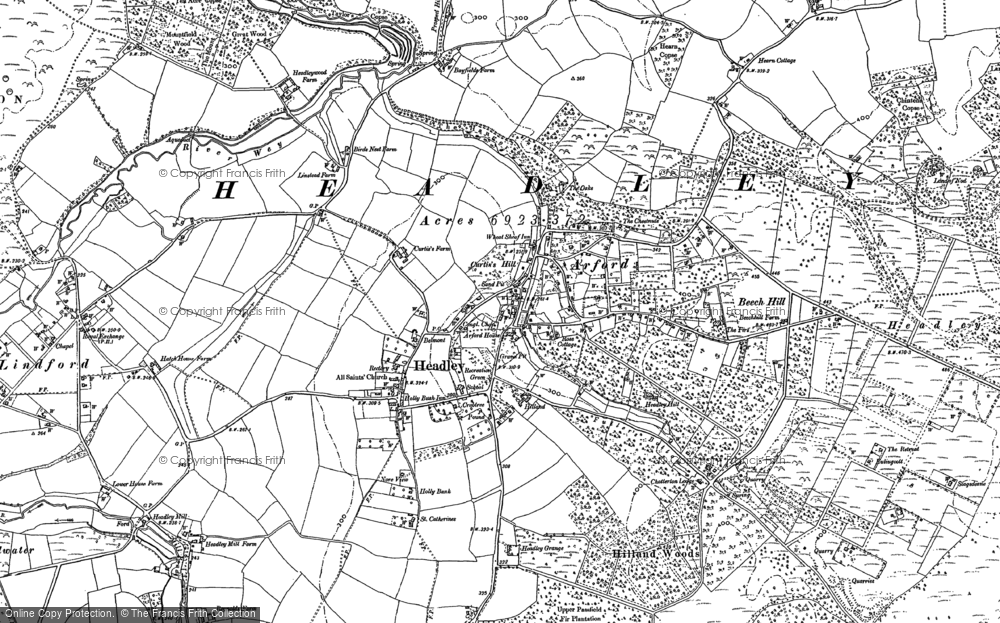 Old Map of Historic Map covering Tignals in 1909