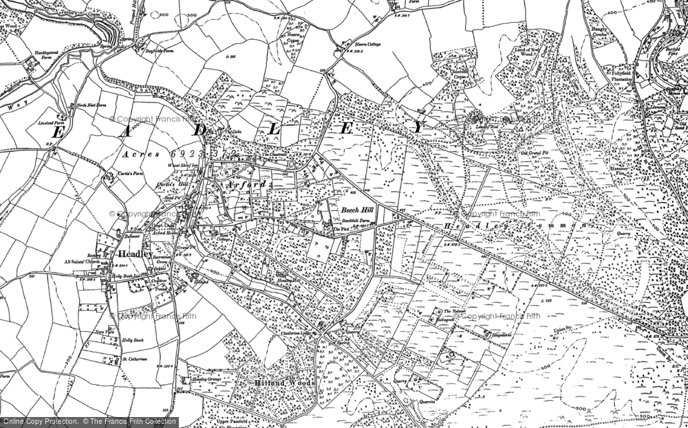 Old Map of Headley Down, 1909 in 1909