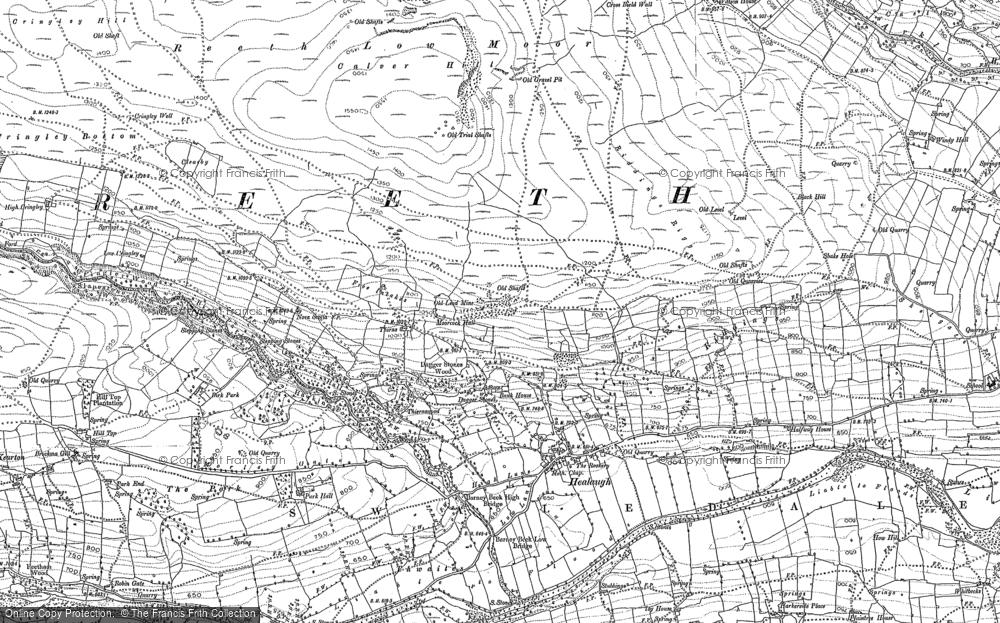 Old Map of Healaugh, 1891 - 1892 in 1891