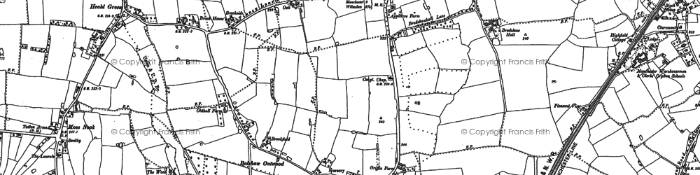 Old map of Heald Green in 1897