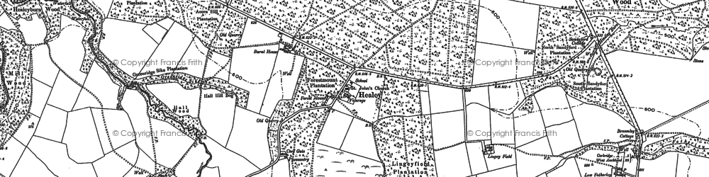 Old map of Healey in 1895