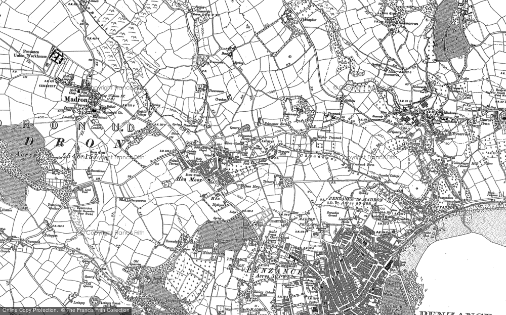 Old Map of Heamoor, 1877 - 1906 in 1877