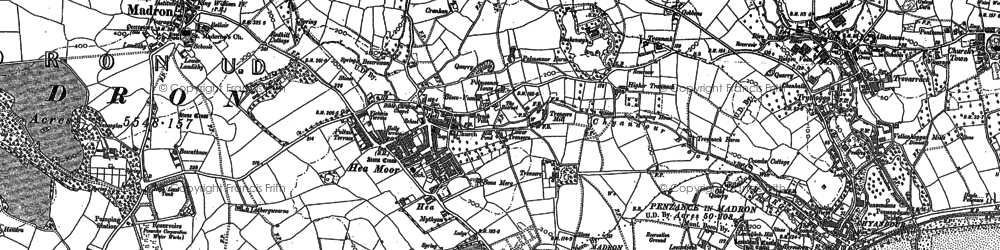 Old map of Heamoor in 1877