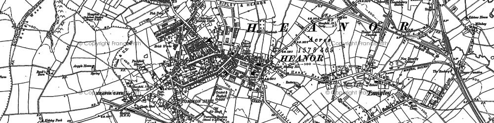 Old map of Heanor in 1880