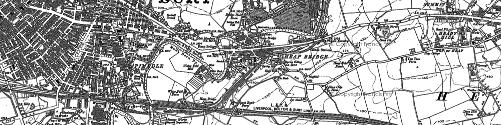 Old map of Jericho in 1890