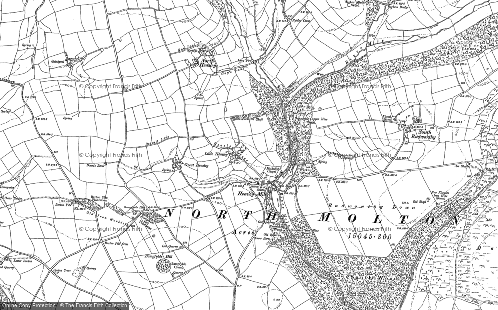 Old Map of Historic Map covering Western Common in 1903