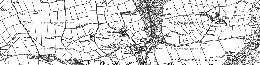 Old map of West Yarde in 1903
