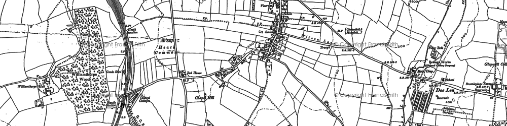 Old map of Owlcotes in 1877