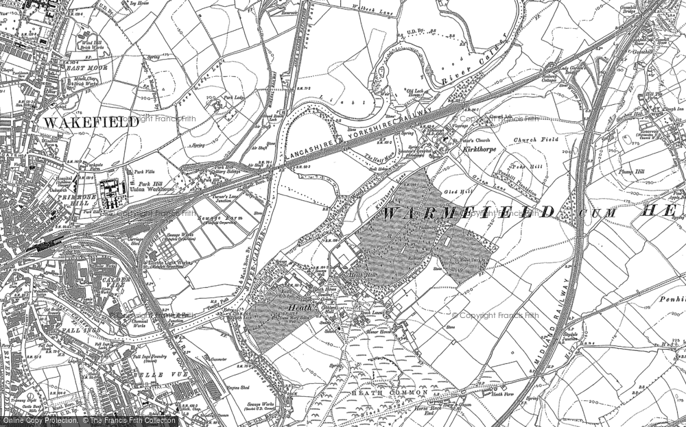 Old Map of Heath, 1890 - 1891 in 1890