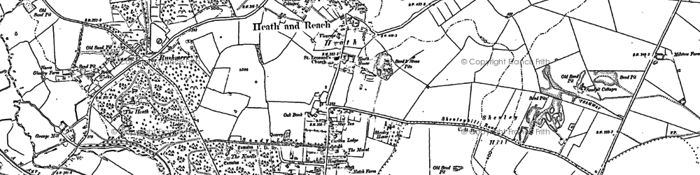 Old map of Heath and Reach in 1900