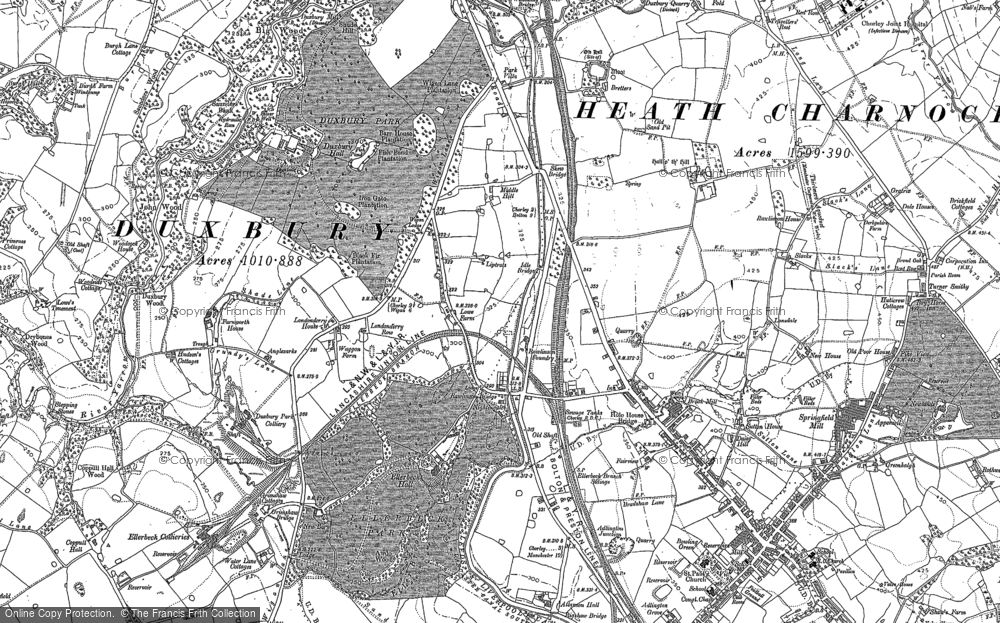 Old Map of Heath Charnock, 1892 - 1893 in 1892