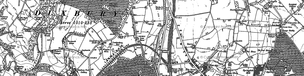 Old map of Heath Charnock in 1892