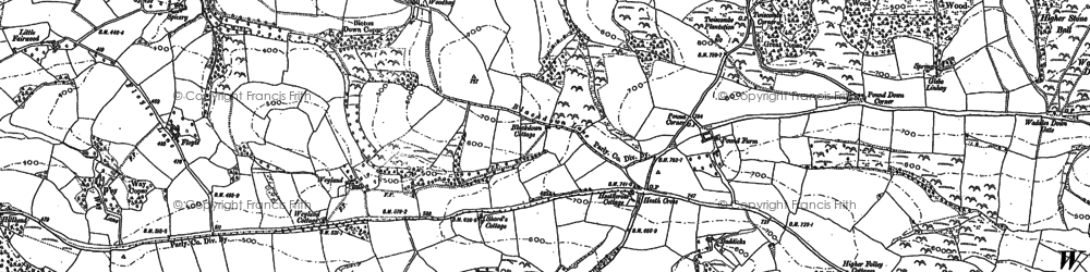 Old map of Frankford in 1886
