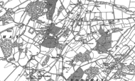 Old Map of Heath End, 1909 - 1938