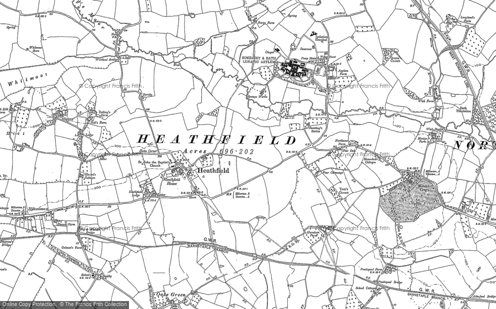 Old Maps of Vale of Taunton Deane Francis Frith