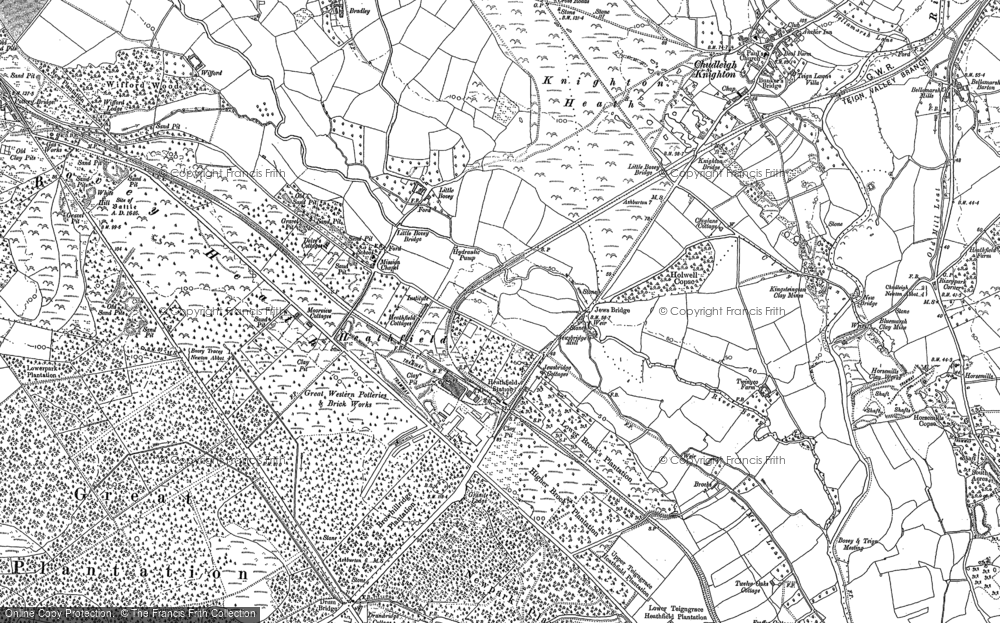 Old Map of Historic Map covering Wifford in 1887