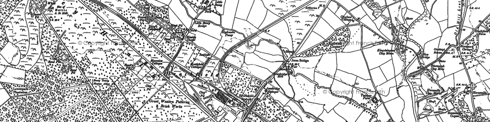 Old map of Wifford in 1887