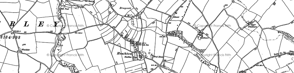 Old map of Whittimere in 1882