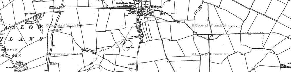 Old map of West Shield Hill in 1896