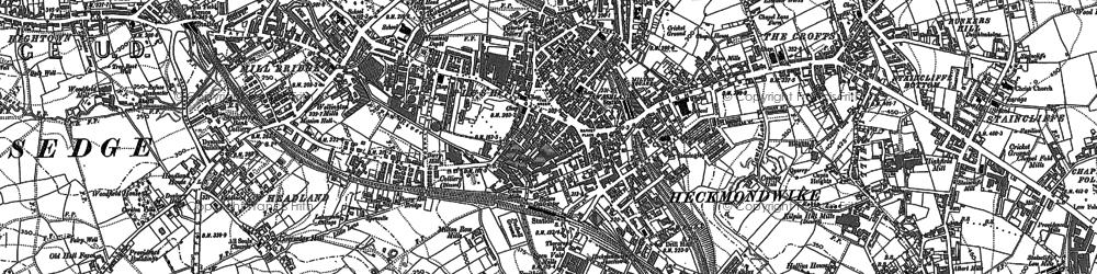 Old map of Heckmondwike in 1892