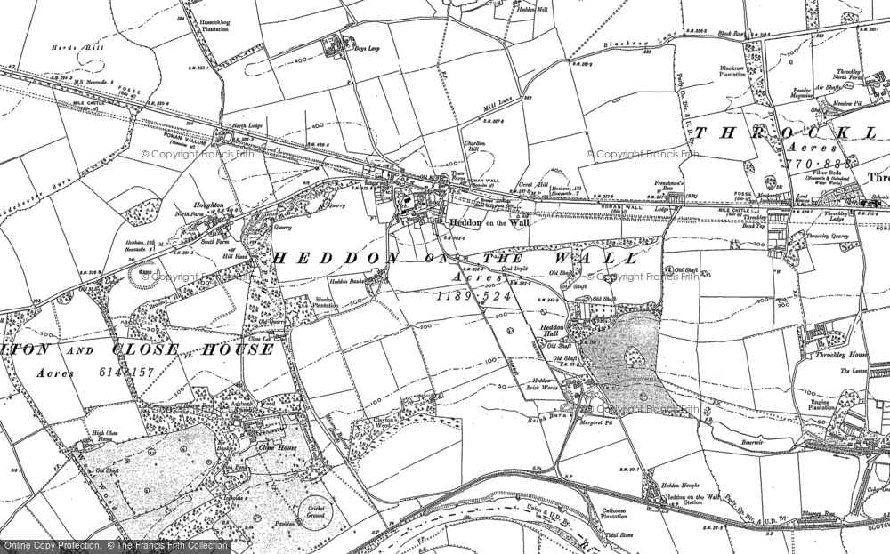 Old Map of Historic Map covering Bank Top in 1895