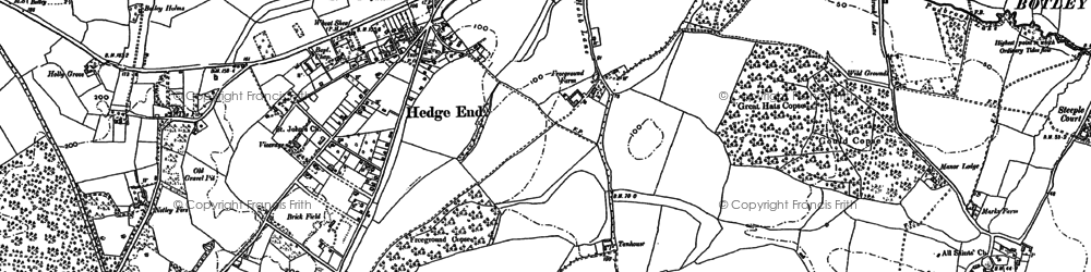 Old map of Wildern in 1895