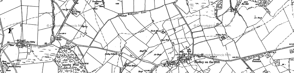 Old map of West Riding in 1895