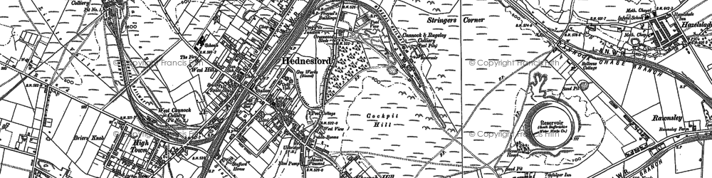 Old map of Hednesford in 1883