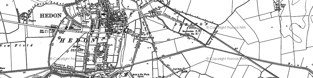 Old map of Wranglands in 1908