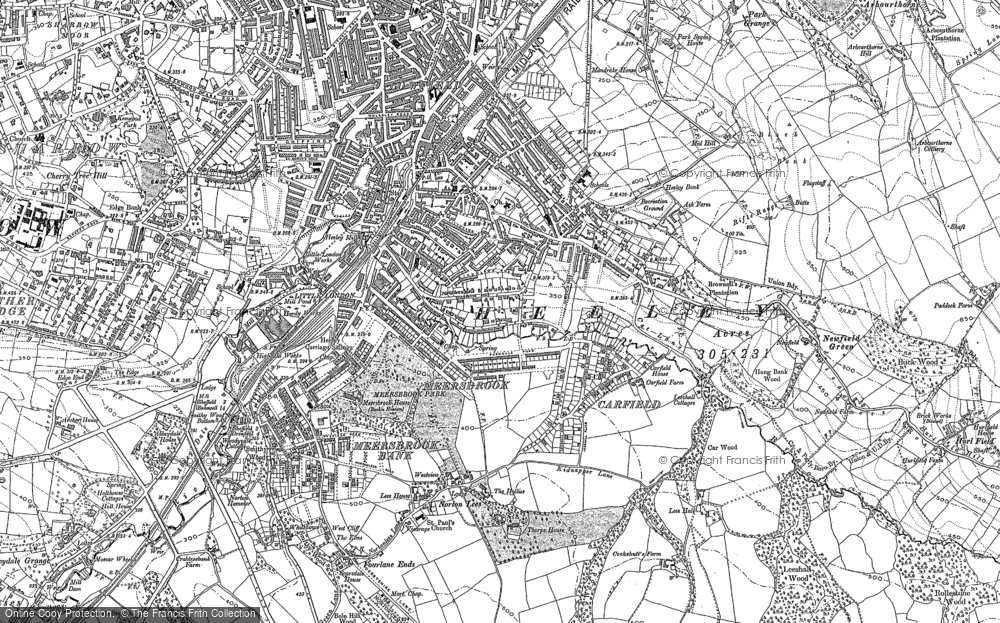 Old Maps of Heeley Francis Frith