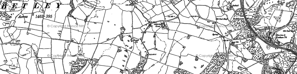 Old map of Adderley Green in 1878