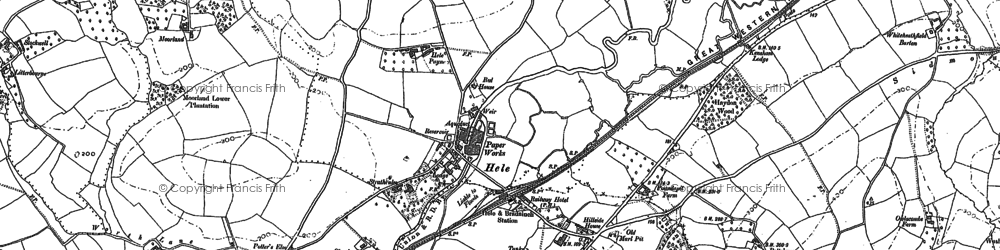 Old map of White Down Copse in 1887