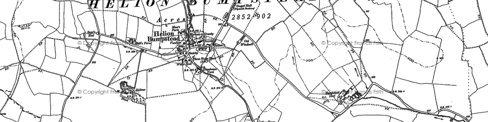 Old map of Wiggens Green in 1896