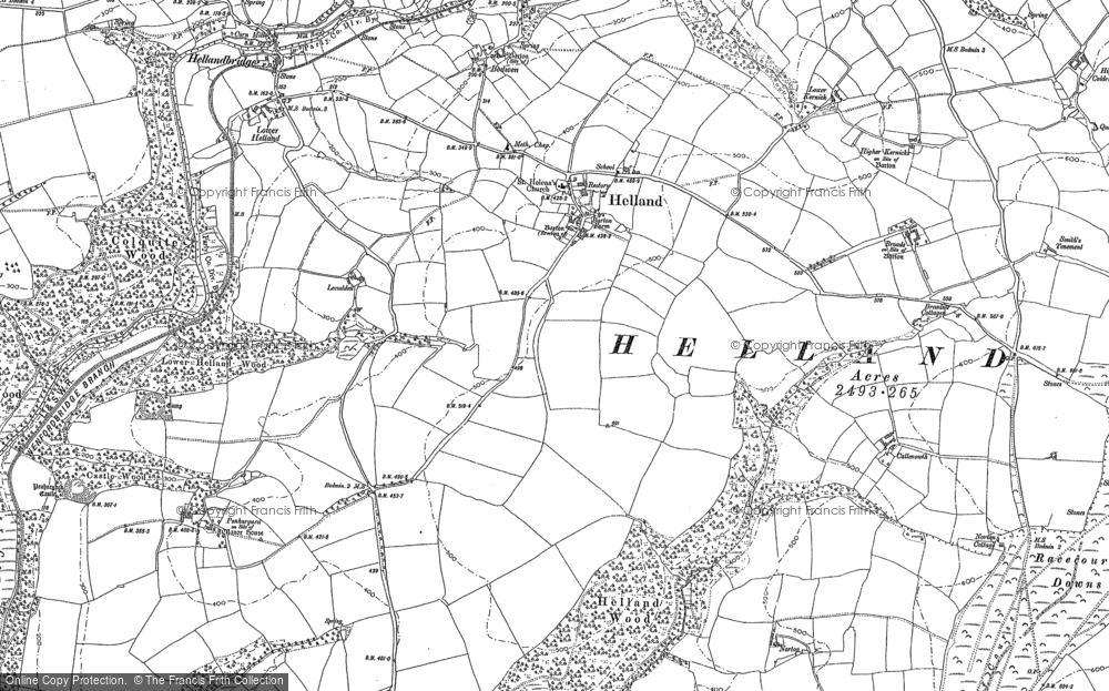 Old Map of Historic Map covering Lemar in 1880