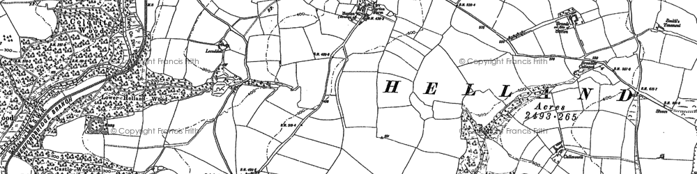 Old map of Lemar in 1880