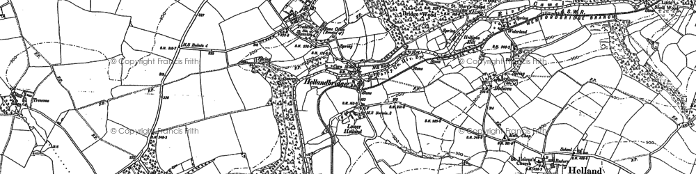 Old map of Hellandbridge in 1880