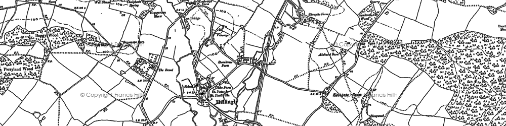 Old map of Winkenhurst in 1898