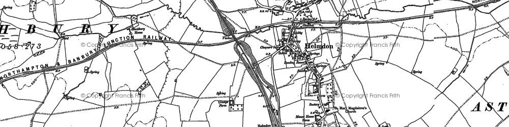 Old map of Astwell Ho in 1883