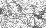 Old Map of Helmington Row, 1896