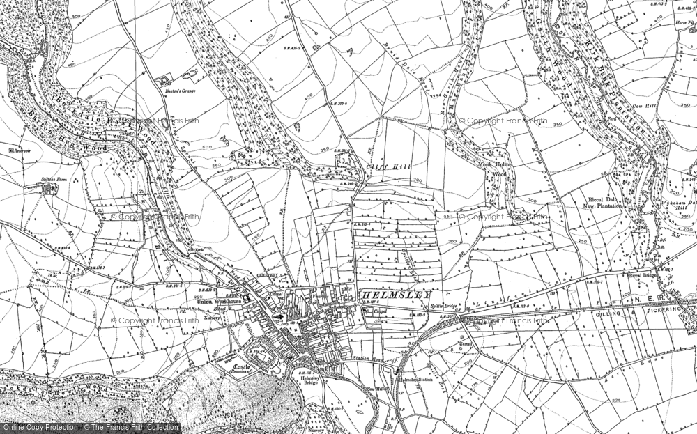 Old Map of Historic Map covering Ash Dale in 1891