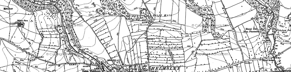 Old map of Ash Dale in 1891