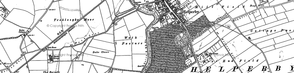 Old map of Helperby in 1890
