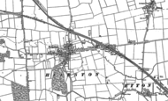Old Map of Helpston, 1899